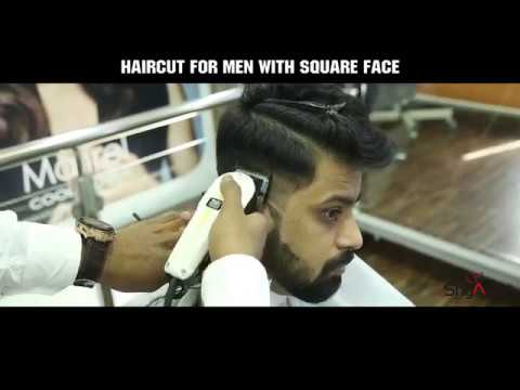 How to do a haircut for men with square face