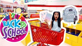 BACK TO SCHOOL SHOPPING HAUL AT JUSTICE ~TARGET ~ WALMART | School Supplies 📓GIVEAWAY ✨