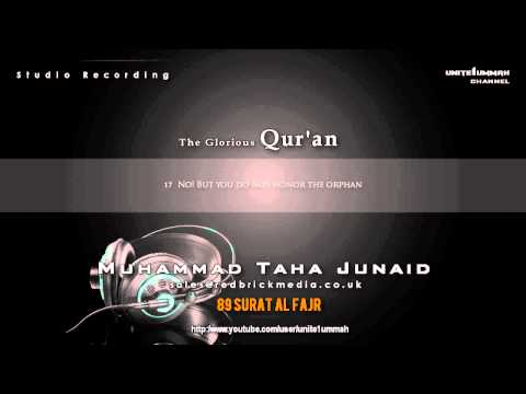 Muhammad Taha Junaid | Surat Al Fajr [studio Recording] video