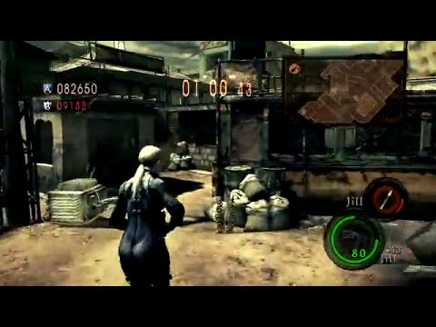 Resident Evil 5 [Versus] Team Survivors - Jill vs Wesker (Public Assembly)