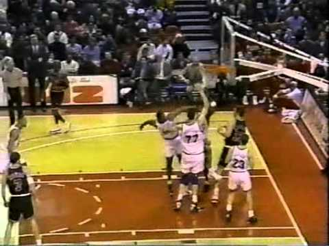 The tallest man to ever play in the NBA. His 27 points and defense against Jordan, Pippen and other Bulls in this video. January 15, 1996.