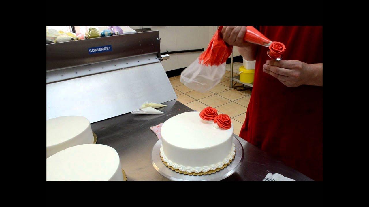 Cake Decor By Anju : Red Flower Birthday Cake - YouTube