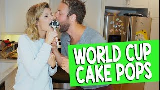 WORLD CUP CAKE POPS // Grace Helbig