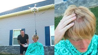 NEVER DO THIS!! DRONE HAIRCUTS!!
