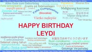 Leydi   Languages Idiomas - Happy Birthday
