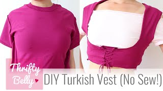 DIY Turkish Vest (No Sew!) - Thrifty Belly ep2