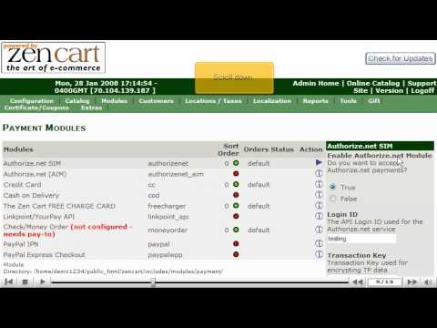 0 Adding payment modules in ZenCart by VodaHost web hosting