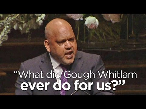Noel Pearson channels Monty Python at Whitlam memorial