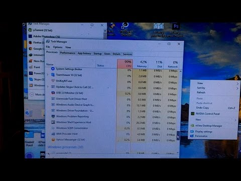 Error 99% CPU windows 10 pro