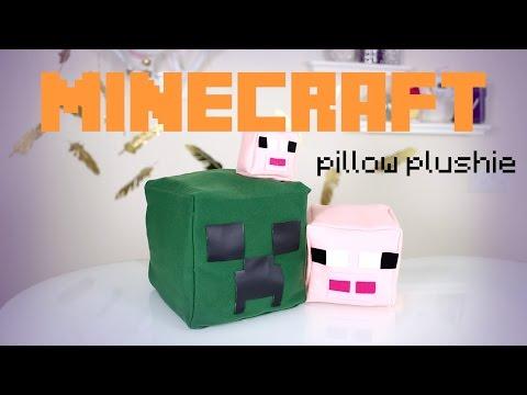 DIY Minecraft Pillow Plushies | IHasCupquake & ANNEORSHINE
