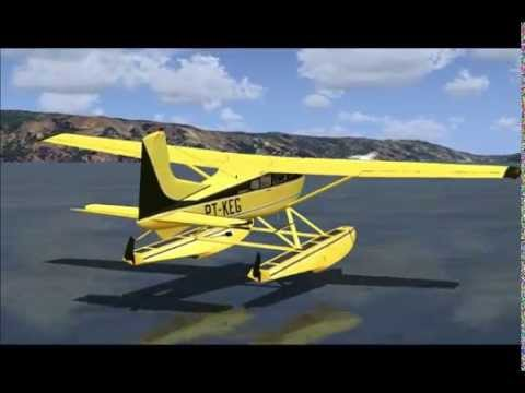 FSX Floatplane Flight - Ukiah, CA - Carenado Cessna 185 Amphibian
