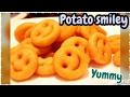 Potato Smiley Recipe   Homemade Easy Crispy Smiley   Cook With Monika