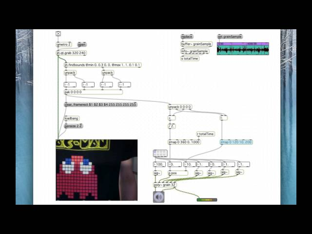 Max/MSP Jitter Tracking Test