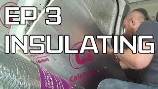 DIY Camper Build - Episode 3 - Yanking out the floor & Insulating the walls and roof.