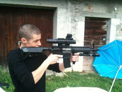 M4 CQBR G&G  / M4 A1 demonstration (airsoft)
