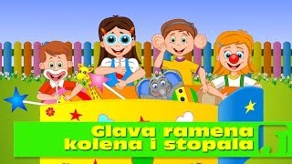 Glava ramena kolena i stopala | Dečije pesme | Head Shoulders Knees and Toes