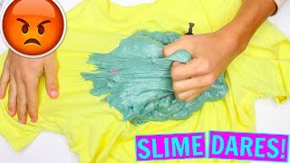 EXTREME SLIME DARES! Slime challenges! *GONE WRONG*