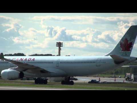 Air Canada Airbus A330-343 Tug Tow to Gate YUL | CYUL Montreal