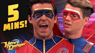 Kid Danger & Captain Man Compare Capes! Sister Twister | Henry Danger