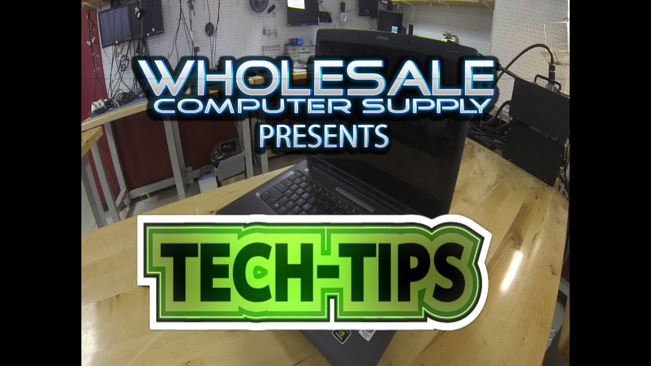 Tech Tips with Wholesale Computer Supply in Tulsa. - YouTube
