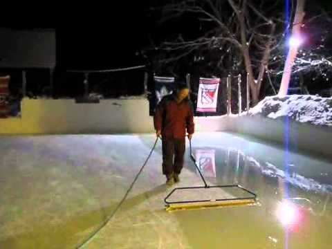 Backyard rink zamboni.wmv