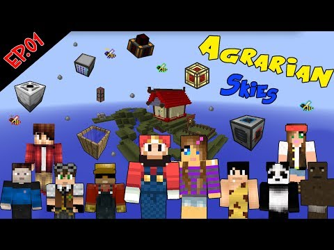 Minecraft Agrarian Skies Co oP ep 001 WOW