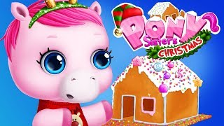 Fun Pet Pony Care - Pony Sisters Christmas Dress Up Baby Horse, Decorate Tree App For Kids