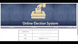 Online Election System Php