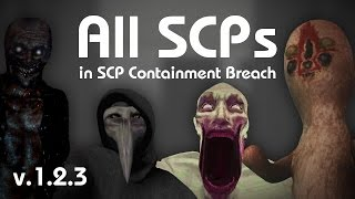 All SCPs in SCP Containment Breach (v1.2.3)