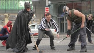 "Spider-Man & Batman in ""Superhero Hockey"" - Bane Ends NHL Lockout - FULL VIDEO"