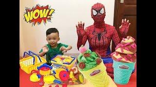 Đồ chơi nấu ăn, Nhật Nam và người nhện bóc hộp đồ chơi nấu ăn, Bông toysreview tv