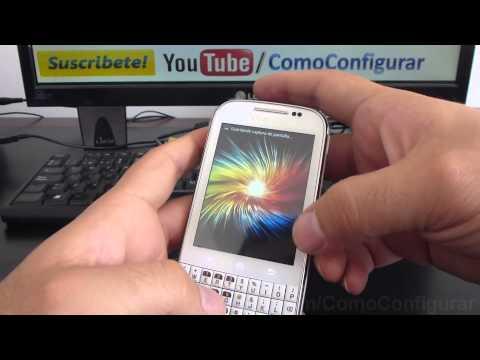 truco para Captura de pantalla screenshot samsung Galaxy chat B5330 español Full HD