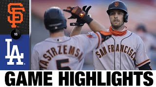Austin Slater leads Giants with two homers | Giants-Dodgers Game Highlights 8/8/20