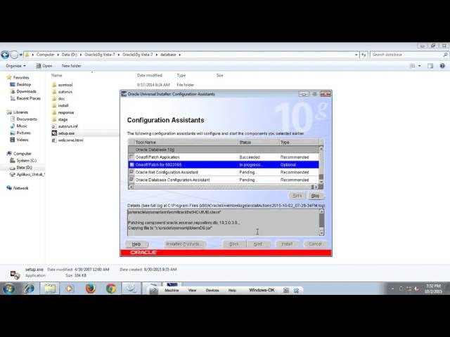 How To Install Oracle Database Server Windows 7