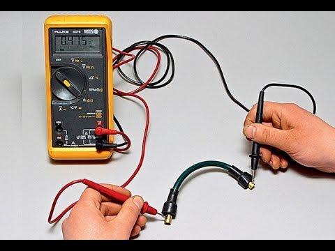 Видео как проверить мультиметром провод на разрыв