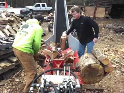 Timberwolf Wood Splitter in action - Raleigh and Wake Forest, North Carolina