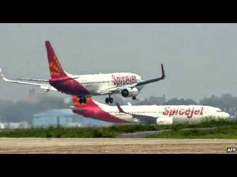 Indian airline SpiceJet hits buffalo during take-off