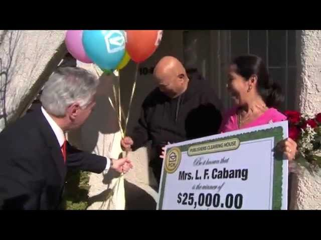 $25,000 Publishers Clearing House winner Luz Cabang of Las Vegas, NV!