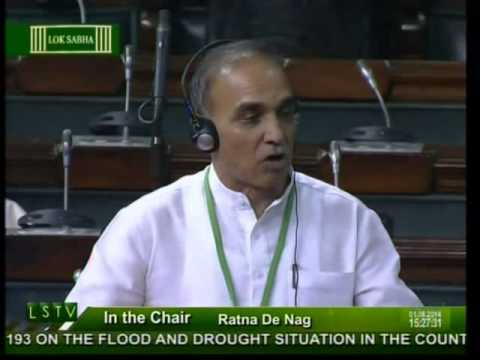 Lok Sabha: Flood and drought situation in the country: Dr. Satya Pal Singh: 01.08.2014