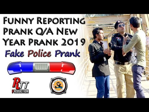 Funny Reporting Prank By Urta Teer Team | New Year 2019 Funny Police Q/A Prank