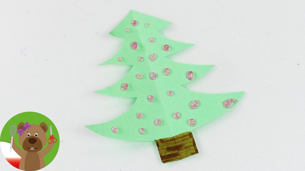 Mini choinka świąteczna | wycinanie z papieru | dekoracje na Święta
