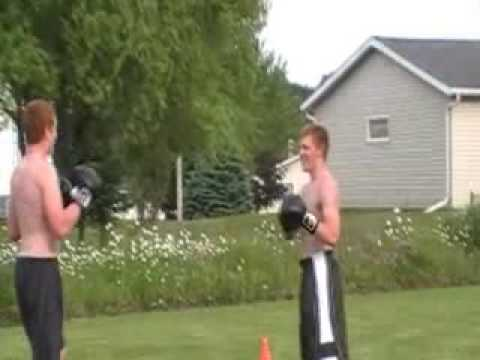 backyard boxing and wrestling match jake and ben youtube