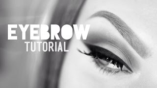Glam Basics: Eyebrow tutorial (for dark to invisible brows)