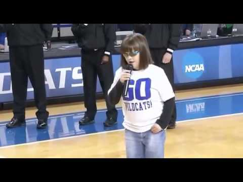 Blind Disabled Girl Sings A Breathtaking Star Spangled Banner video