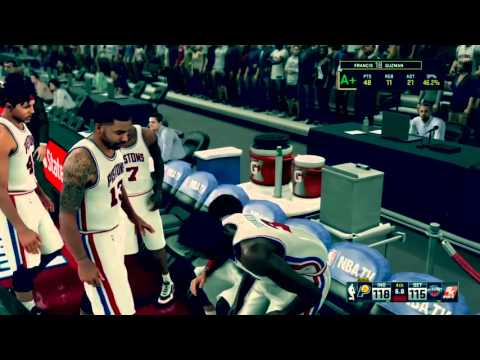 NBA 2K16 Indiana Pacers @ Detroit Pistons (Sending it to OT)