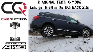 Diagonal test : 2018 Subaru Outback 2.5 with X-Mode | Short review Part 3/6