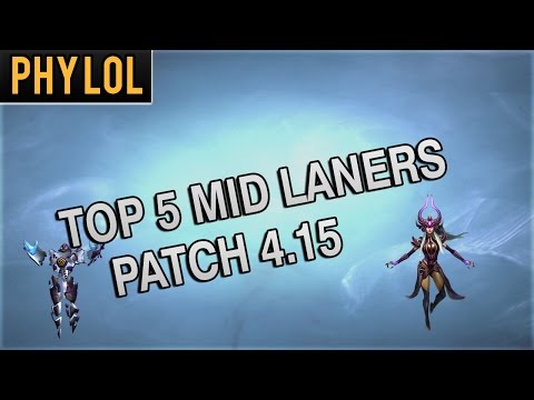 Top 5 MID LANERS for Patch 4.15 with explanations and builds