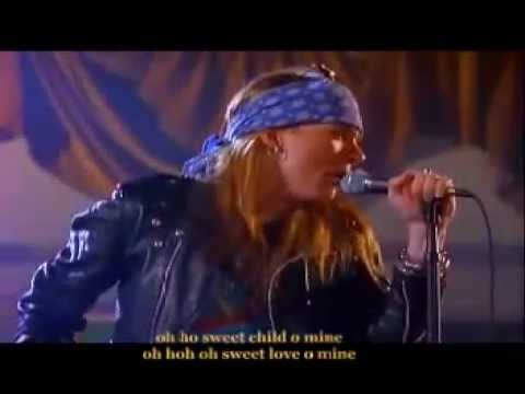 Guns N Roses-Sweet Child O Mine(Long Full Version with Lyrics ...  Axl Rose Sweet Child O Mine