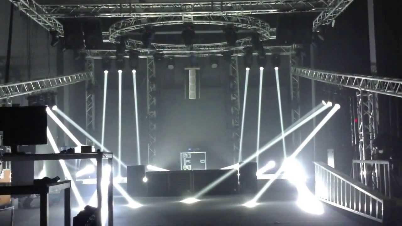Hi Ltte 5r Moving Head Beam Light Show Youtube