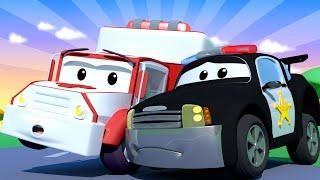 Amber the Ambulance -  Matt The Police Car Gets a Bump! - Car City ! Trucks Cartoon for kids